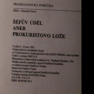 antikvární kniha Šéfův úděl aneb Prokuristovo lože, 1993