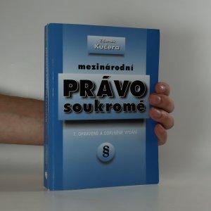náhled knihy - Mezinárodní právo soukromé