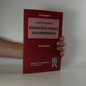 náhled knihy - Texty ke studiu římského práva soukromého
