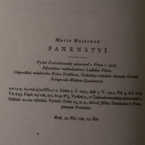 antikvární kniha Panenství. Historie děvčete, 1953