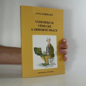náhled knihy - Vádemékum vědecké a odborné práce
