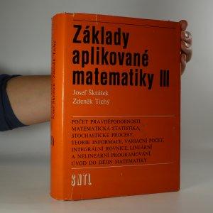 náhled knihy - Základy aplikované matematiky III
