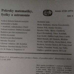 antikvární kniha Pokroky matematiky, fyziky a astronomie. Ročník 18. Číslo 6., 1973