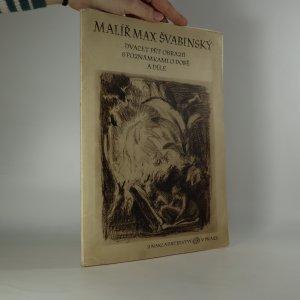náhled knihy - Malíř Max Švabinský. Dvacet pět obrazů s poznámkami o době a díle.