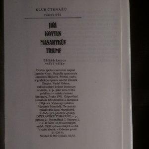 antikvární kniha Masarykův triumf, 1991
