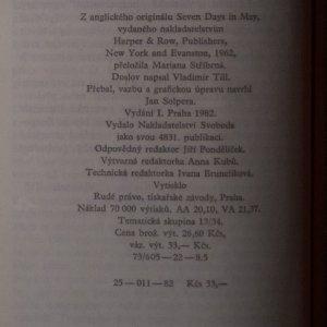 antikvární kniha Sedm dní v Bílém domě, 1982
