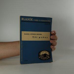 náhled knihy - Tři prózy
