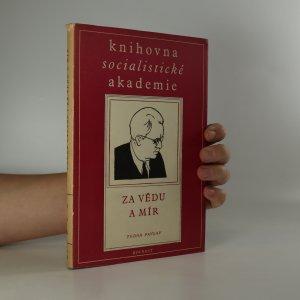 náhled knihy - Za vědu a mír