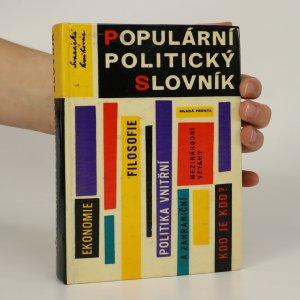 náhled knihy - Populární politický slovník