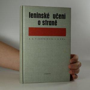 náhled knihy - Leninské učení o straně