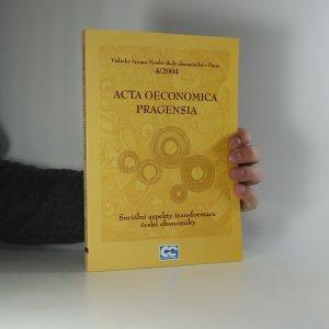náhled knihy - Acta Oeconomica Pragensia. Ročník XII. Číslo IV