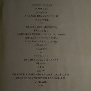 antikvární kniha Rabevel. (Obálka Josef Čapek), 1925
