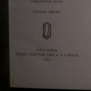 antikvární kniha Za okřídleným kolem , 1921