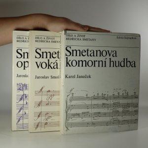 náhled knihy - Dílo a život Bedřicha Smetany, I.-III. díl, tři svazky (je cítit zatuchlinou)