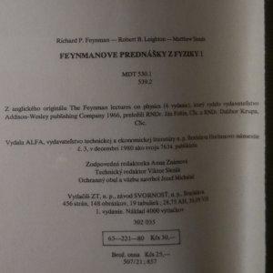 antikvární kniha Feynmanove prednášky z fyziky 1-5 (5 svazků), 1980-1990