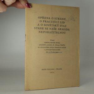 náhled knihy - Opřena o stranu, o pracující lid a o Sovětský svaz, stane se naše armáda neporazitelnou