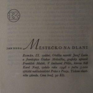 antikvární kniha Městečko na dlani, 1948