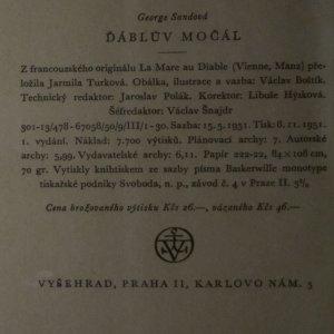 antikvární kniha Ďáblův močál, 1951