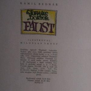antikvární kniha Johanes Doktor Faust, 1959