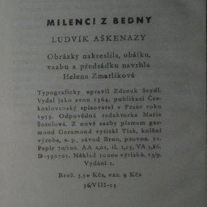 antikvární kniha Milenci z bedny, 1959