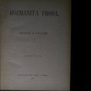 antikvární kniha Rozmanitá prosa. Skizzy a studie I., 1901