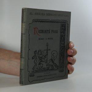náhled knihy - Rozmanitá prosa. Skizzy a studie I.