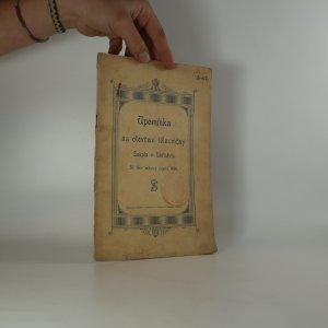náhled knihy - Upomínka na otevření tělocvičny Sokola v Uhříněvsi