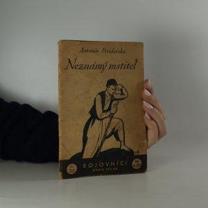 náhled knihy - Neznámý mstitel. Příběh z bosenských hor