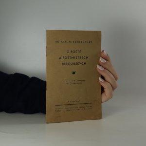 náhled knihy - O poště a poštmistrech berounských