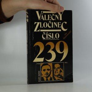 náhled knihy - Válečný zločinec číslo 239