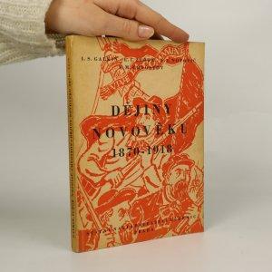 náhled knihy - Dějiny novověku 1870-1918