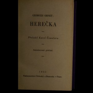antikvární kniha Herečka, 1931