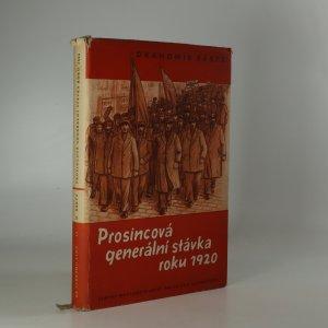 náhled knihy - Prosincová generální stávka roku 1920