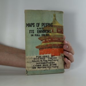 náhled knihy - Maps of Peiping and its environs in full colors (2 mapy v obalu)