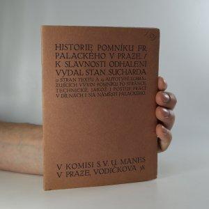 náhled knihy - Historie pomníku Fr. Palackého v Praze