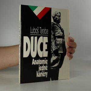 náhled knihy - Duce. Anatomie jedné kariéry