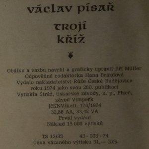antikvární kniha Trojí kříž. Freska z poděbradské doby, 1974