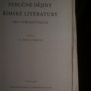 antikvární kniha Stručné dějiny římské literatury pro střední školy, 1938
