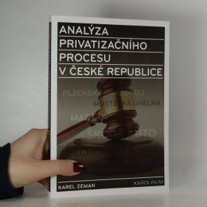 náhled knihy - Analýza privatizačního procesu v České republice