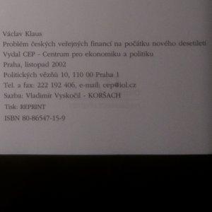 antikvární kniha Problémy českých veřejných financí na počátku nového desetiletí, 2002