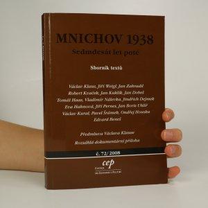 náhled knihy - Mnichov 1938. Sedmdesát let poté