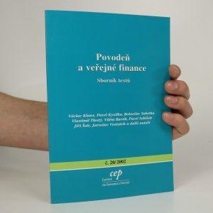 náhled knihy - Povodeň a veřejné finance