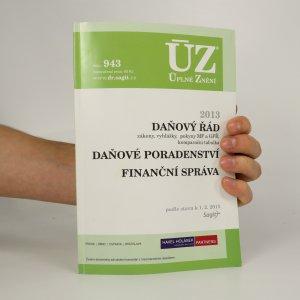 náhled knihy - Daňový řád. Daňové poradenství. Finanční správa