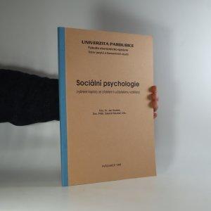 náhled knihy - Sociální psychologie. Vybrané kapitoly se zřetelem k učitelskému vzdělání