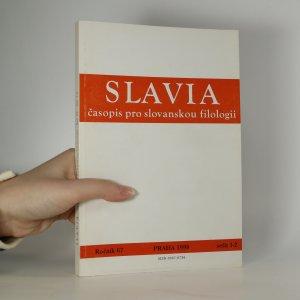 náhled knihy - Slavia. Časopis pro slovanskou filologii (ročník 67, sešit 1-2)