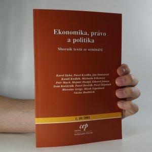 náhled knihy - Ekonomika, právo a politika