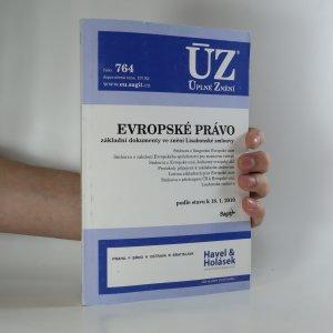 náhled knihy - Evropské právo. Zakládací smlouvy