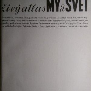 antikvární kniha Živý atlas My a svět, 1939