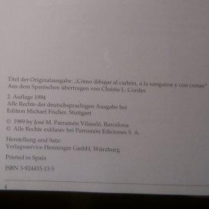 antikvární kniha Mit Zeichenkohle, Rötel und Farbkreiden, 1994
