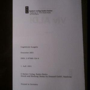 antikvární kniha Viv ALDI (podpis), 2001